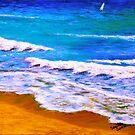 Caribbean Beach by sesillie