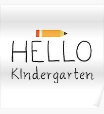 Hello Kindergarten Poster