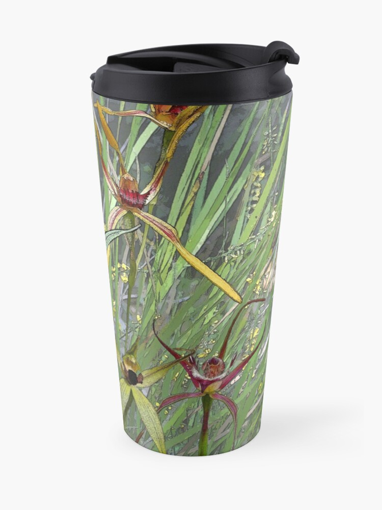 Alternate view of Margaret River Orchids with Grasses Travel Mug