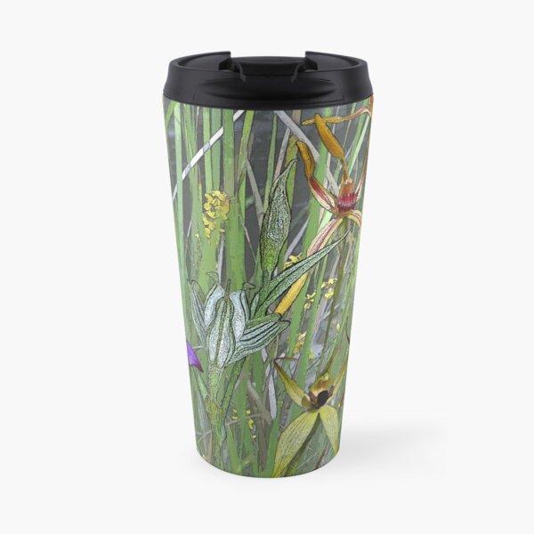 Margaret River Orchids with Grasses Travel Mug