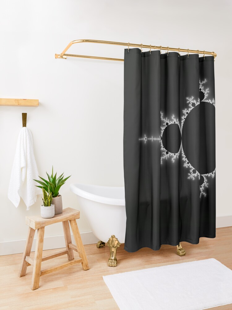 Alternate view of Simple Mandelbrot Shower Curtain
