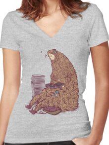 Monster mash Women's Fitted V-Neck T-Shirt