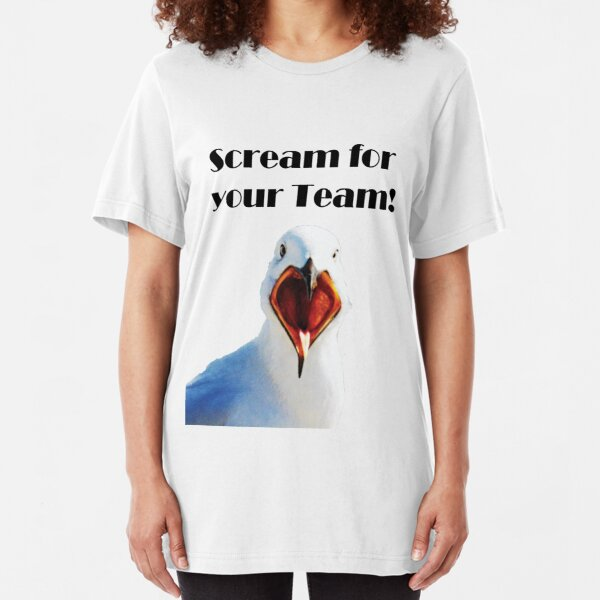 Scream for you team Slim Fit T-Shirt