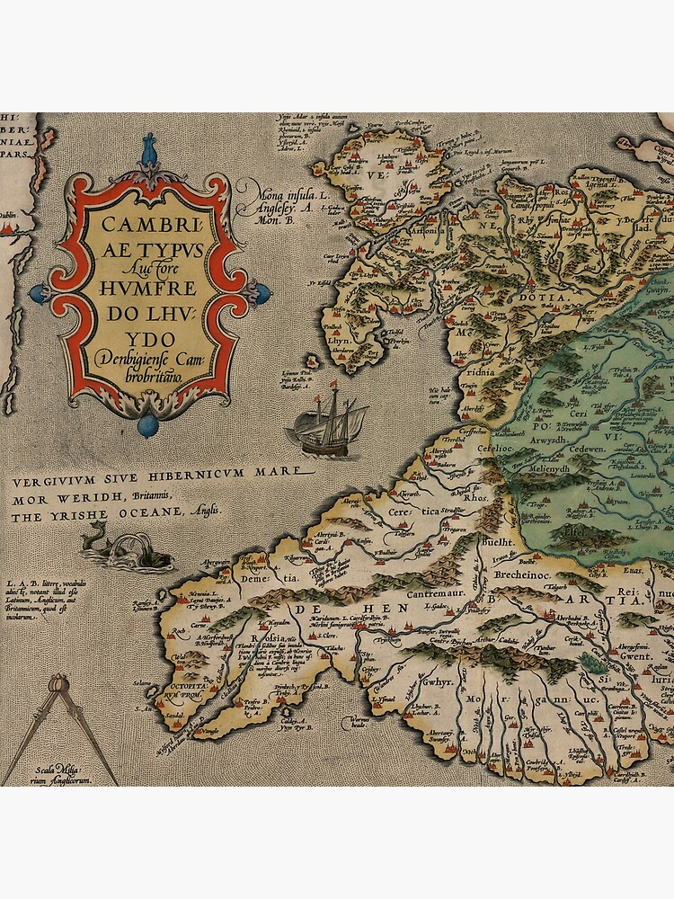 Map of Wales (1500s) by ArtHistorical