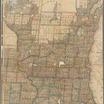 Vintage map of Wisconsin by Geekimpact