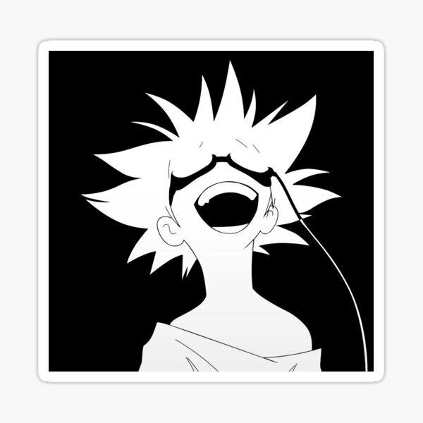 Black and White Ed Sticker
