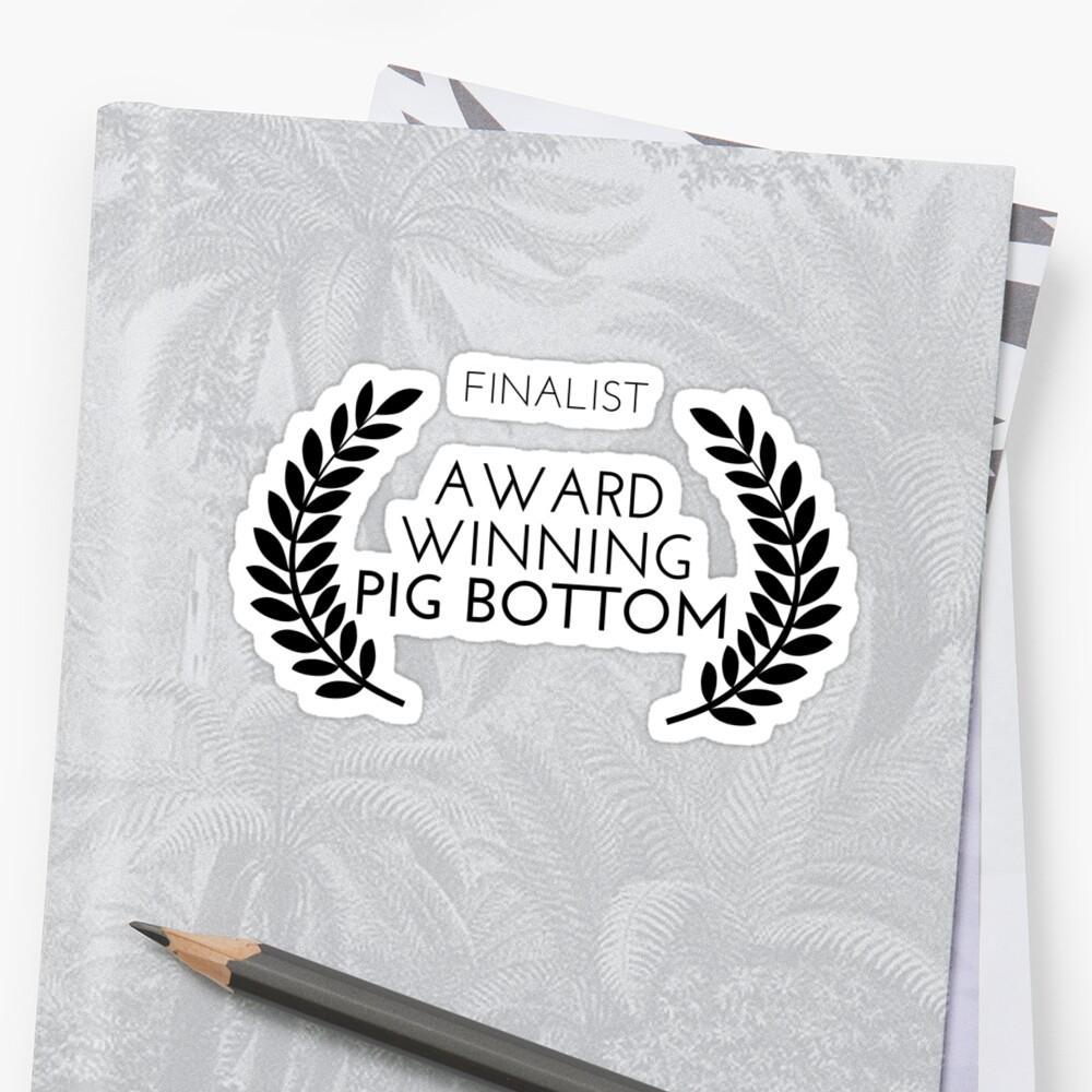 Award Winning Pig Bottom - Gay Awards Season