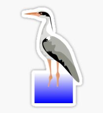 Grey Heron Sticker