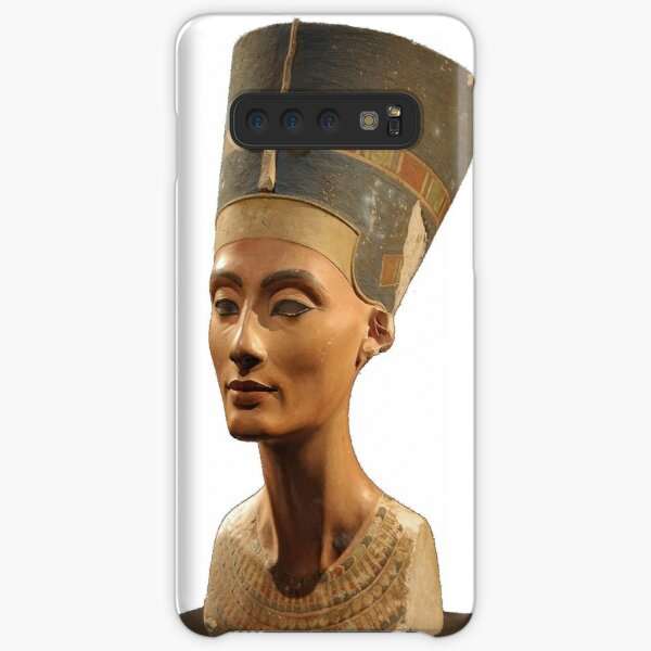 Phone Cases, Ancient Egyptian Artifact, young adult, head, people, adult, sculpture, portrait, veil, art, museum, real people, color image, copy space, classical style, clothing, adults only, youth culture Samsung Galaxy Snap Case