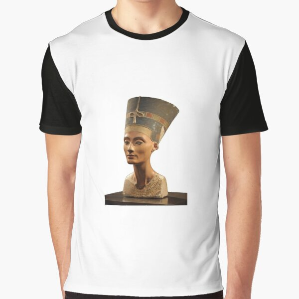 Ancient Egyptian Artifact, young adult, head, people, adult, sculpture, portrait, veil, art, museum, real people, color image, copy space, classical style, clothing, adults only, youth culture Graphic T-Shirt