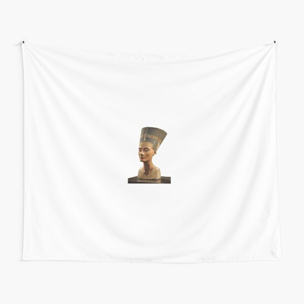 Ancient Egyptian Artifact, young adult, head, people, adult, sculpture, portrait, veil, art, museum, real people, color image, copy space, classical style, clothing, adults only, youth culture Tapestry