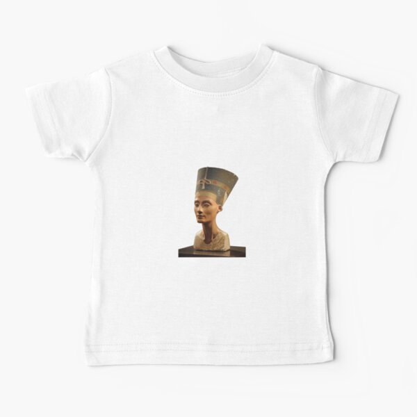 Ancient Egyptian Artifact, young adult, head, people, adult, sculpture, portrait, veil, art, museum, real people, color image, copy space, classical style, clothing, adults only, youth culture Baby T-Shirt