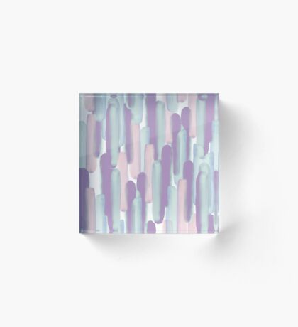 Crowd #redbubble #abstractart Acrylic Block