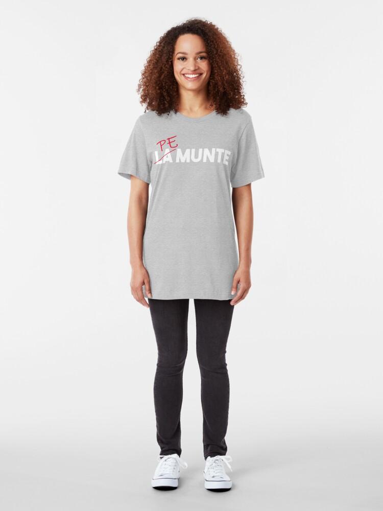 "Alternate view of ""Pe munte"", nu ""la munte"" (2) Slim Fit T-Shirt"