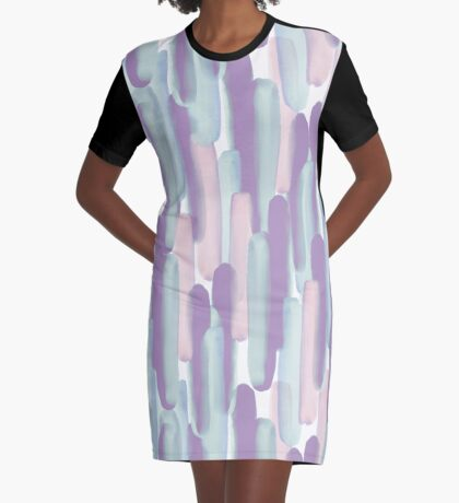 Crowd #redbubble #abstractart Graphic T-Shirt Dress