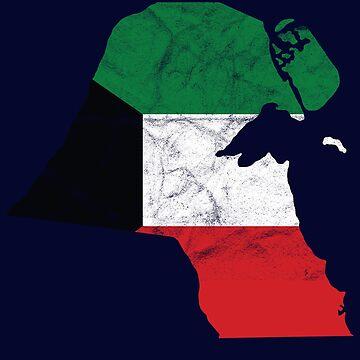 'Kuwait' Cool Flag Kuwait  by leyogi