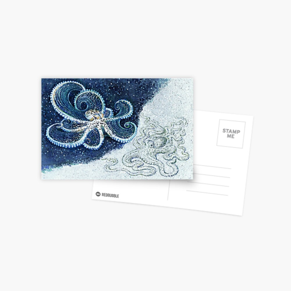 Postcards for the Reef 12: A pair of Mimic Octopi Postcard