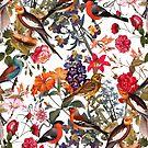 Floral and Birds XXXIII by Burcu Korkmazyurek