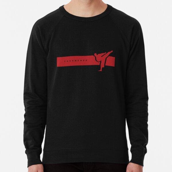 Taekwondo Stripes Red Belt (2nd Kup) Lightweight Sweatshirt