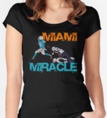 Miami Miracle T-shirt for Dolphins fans to cherish forever Women's Fitted Scoop T-Shirt
