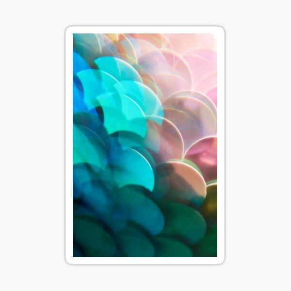 Mermaid Scale Paillettes Photographed Through A Prism Sticker