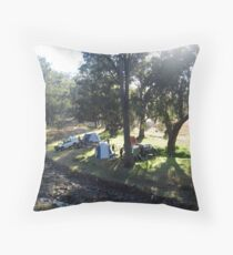 Country Camping Throw Pillow