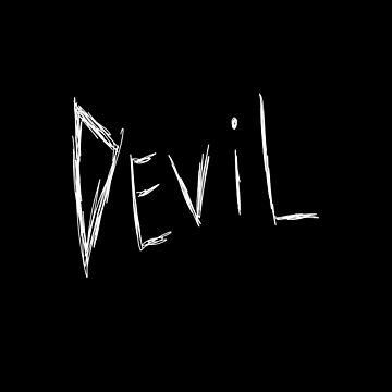 Dark and Gritty DEVIL text (white) by MacSquiddles