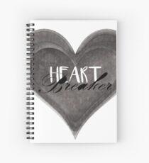 Heart Breaker - Black and White heart Spiral Notebook