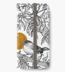 Forest friends - squirrel and bird, gold iPhone Wallet/Case/Skin