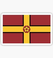 Northamptonshire county flag sticker Sticker