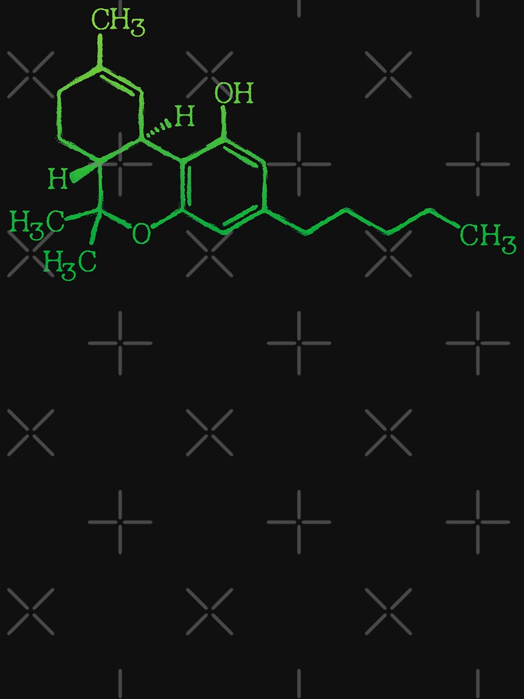 THC Cannabis Marijuana Medicine Chemical Formula by thespottydogg