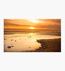 walney winter sunset Photographic Print