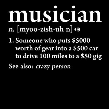 Musician Definition Funny Band Music Meaning Gift by JapaneseInkArt