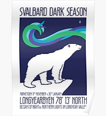 Svalbard Northern Lights Poster