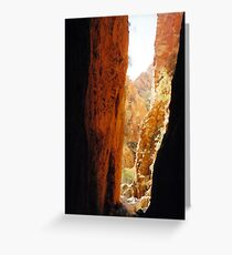 Golden Standley Chasm Greeting Card