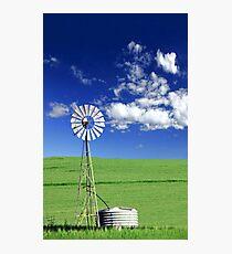 Farm Windmill  Photographic Print