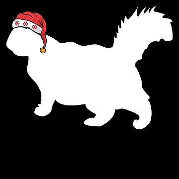 Christmas Cat Persian Cat Santa Christmas by shoppzee