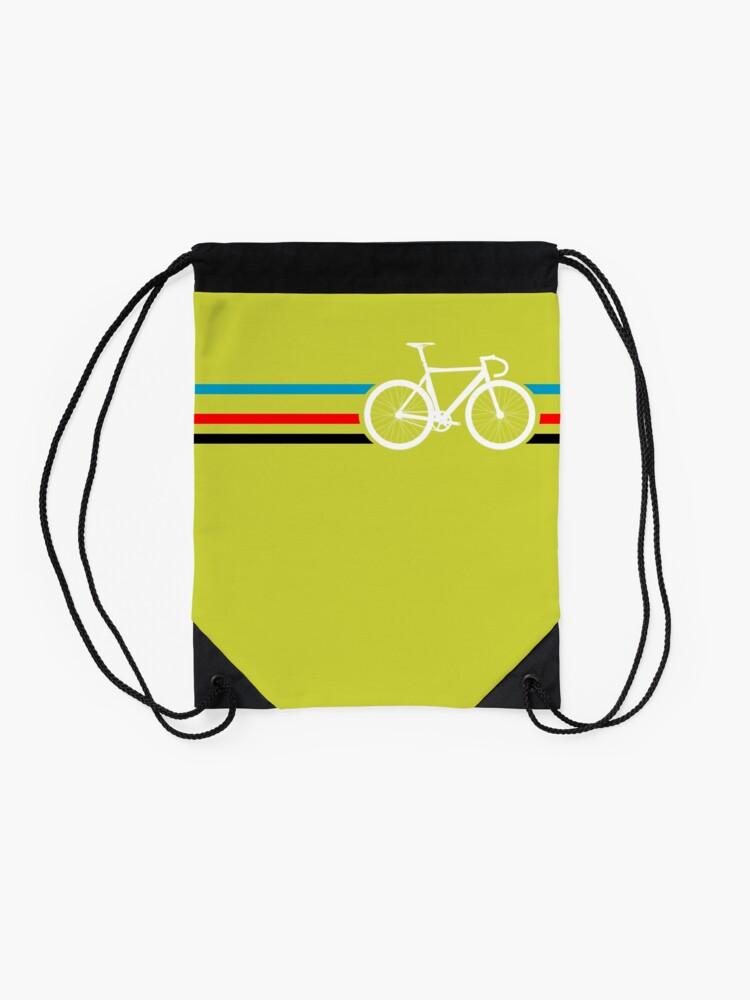 Alternate view of Bike Stripes Velodrome Drawstring Bag