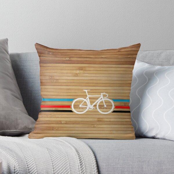 Bike Stripes Velodrome Throw Pillow