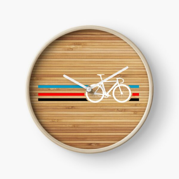 Bike Stripes Velodrome Clock