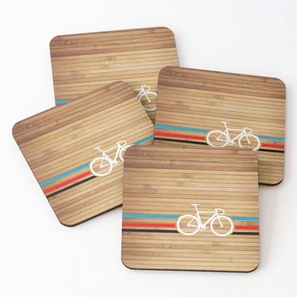 Bike Stripes Velodrome Coasters (Set of 4)