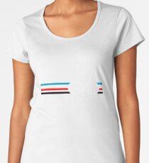 Bike Stripes Velodrome Women's Premium T-Shirt