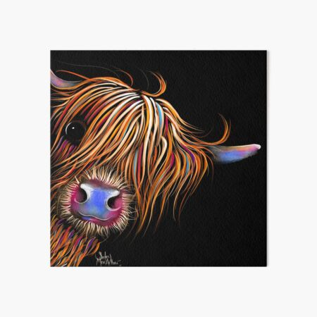HiGHLaND CoW PRiNT SCoTTiSH ' SuGaR LuMP 2 ' BY SHiRLeY MacARTHuR Art Board Print