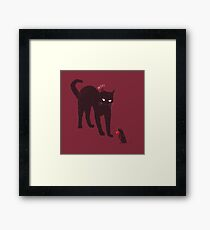 Cat & Mouse Framed Print