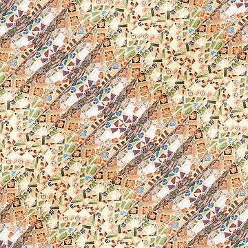 Colorful Mosaic Collage Print Pattern by DFLCreative