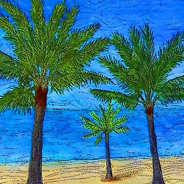Beach Palm Trees by -monkey-