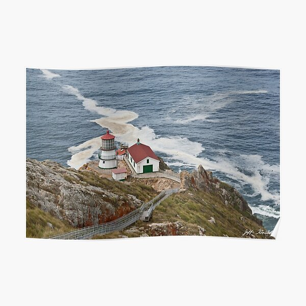 Stairway Leading to Point Reyes Lighthouse Poster