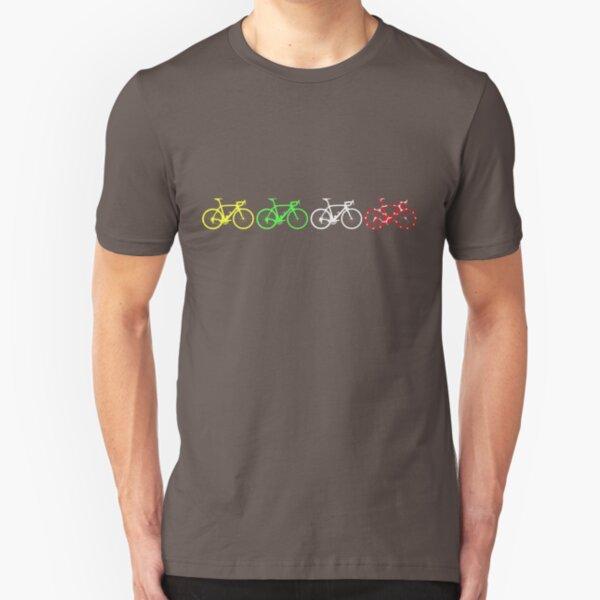 Bike Stripes Tour de France Jerseys v2 Slim Fit T-Shirt