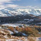 Five Sisters of Kintail. From Auchtertyre Hill. Winter. Scotland. by Barbara  Jones ~ PhotosEcosse