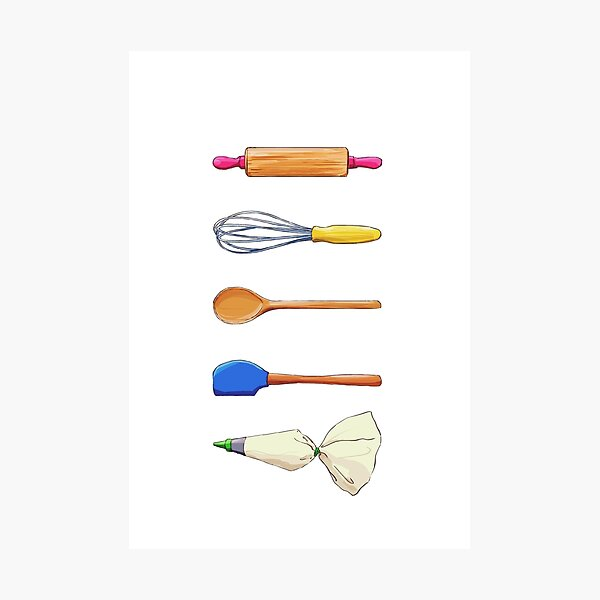 Baking Utensils Photographic Print
